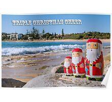Triple Christmas Cheer Poster