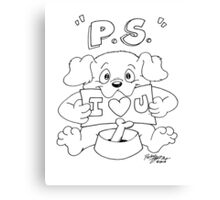 P.S. - I Love You Canvas Print