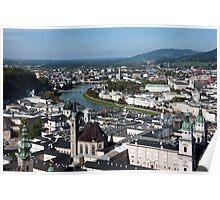 Salzburg Cityscape Poster