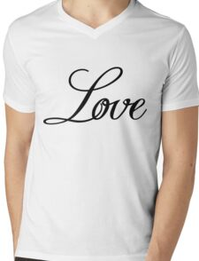 Love Sticker [Black] Mens V-Neck T-Shirt
