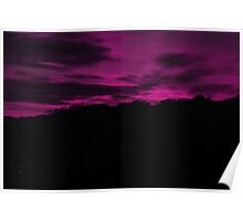Purple sunset Poster
