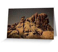 Rocky Night Greeting Card
