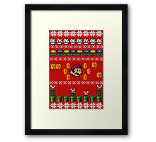 Super Mario Ugly Sweater Framed Print