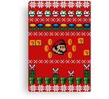 Super Mario Ugly Sweater Canvas Print