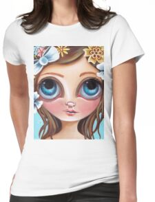Buzzing Blossom Womens Fitted T-Shirt