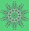 Kaleidoscope of mint green icicles by Avril Harris
