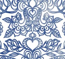 Indigo Blue Denim Ink Doodle Sticker