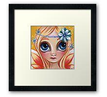 Cute Daisy Dreamer Fairy Framed Print