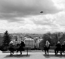 Enjoying the view - Sacre Cour - Paris, France by Norman Repacholi