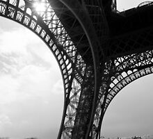 Pilier Sud - Eiffel Tower - Paris, France by Norman Repacholi