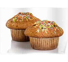 Muffin With Colours Candy Poster