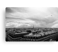 Landmark on the horizon - Eiffel Tower - Paris, France Canvas Print