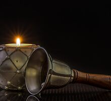 White Candle And Bell by Tom Klausz
