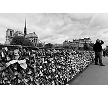 Locking for Love - Paris, France Photographic Print