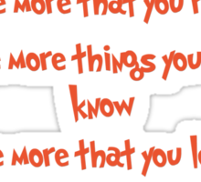 The more you read Sticker