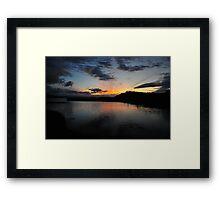 Late at Kilmakilloge Harbour Framed Print