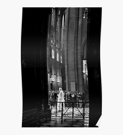 Spiritual transition - Notre Dame - Paris, France Poster