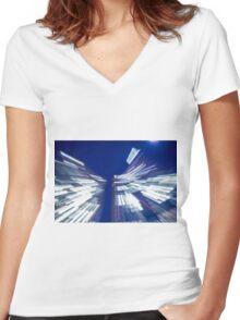 Skyscraper Women's Fitted V-Neck T-Shirt