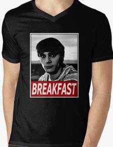 Breakfast Flynn Mens V-Neck T-Shirt