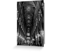Constructed in honor of faith - Notre Dame - Paris, France Greeting Card