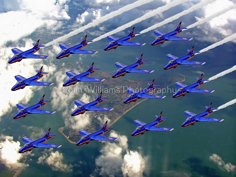 16 Ship Diamond - The Blue Diamonds  by Colin  Williams Photography