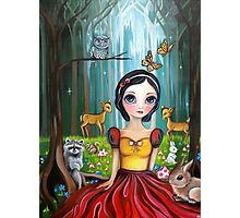 Snow White in the Enchanted Forest Photographic Print