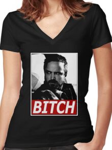 Jesse, Bitch Women's Fitted V-Neck T-Shirt