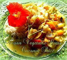 Vegan Vegetable Curry & Coconut Rice by ©The Creative  Minds