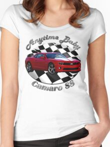 Chevy Camaro SS Anytime Baby Women's Fitted Scoop T-Shirt