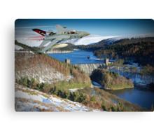 Winter At The Howden Dam - Tornado GR4 Canvas Print