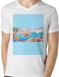 Sunset Surfer Mens V-Neck T-Shirt