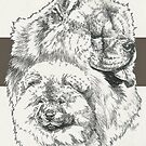 Chow Chow Father & Son by BarbBarcikKeith
