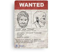 "Wanted - Joel aka ""Texas"" Canvas Print"