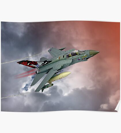 Storming !! Tornado GR4 617 Squadron Poster