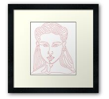 One line face - Lady Framed Print