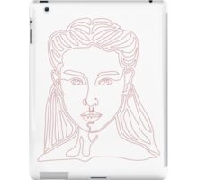 One line face - Lady iPad Case/Skin