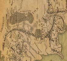 Map Of Middle Earth iPhone Case  by Elkins