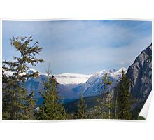 Banff Canada Mountain View Poster