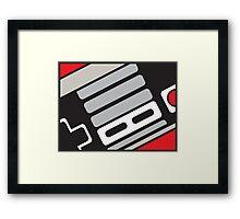 NES controller sketch Framed Print