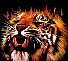 Fire Power Tiger by BluedarkArt