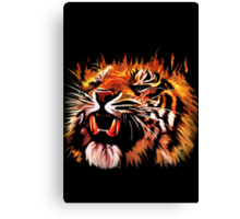 Fire Power Tiger Canvas Print
