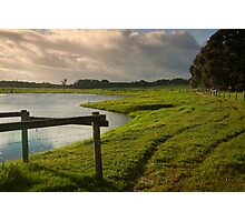 Green grass & good waters. Photographic Print