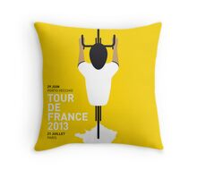My Tour de France Minimal poster 2013 Throw Pillow