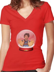 Scott Doonican Christmas Bar-Steward Humbugged T-Shirt Women's Fitted V-Neck T-Shirt