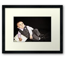 Ollie in his Tux 2 Framed Print