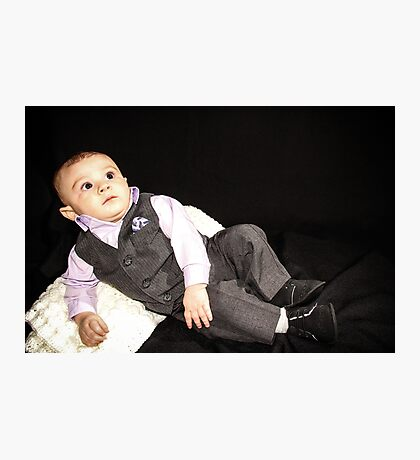 Ollie in his Tux 2 Photographic Print