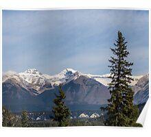 Banff Springs Mountain Peaks Poster
