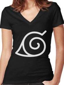 Konohagakure Women's Fitted V-Neck T-Shirt