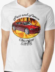 Dodge Charger SRT8 Fast and Fierce Mens V-Neck T-Shirt