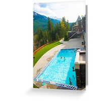 Banff Pool Greeting Card
